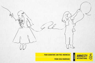 Amnesty poster campaign focuses on the mighty pen