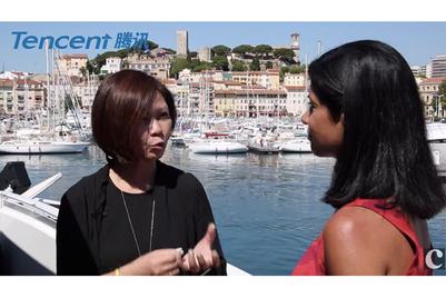 与腾讯合作制作的戛纳视频访问集锦:林友琴