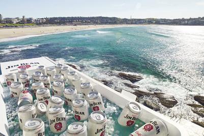 Jim Beam stocks 'world's largest' cooler at Bondi Beach