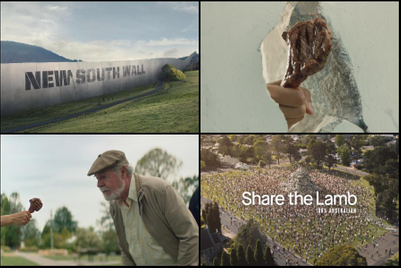 Lamb chops down imagined walls in Meat & Livestock Australia ad