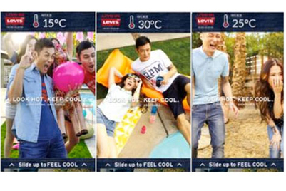 Pixels debuts weather-driven mobile ads in Hong Kong with Levi's