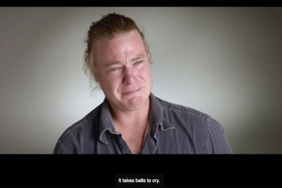 Video of crying men makes an impact in Australia