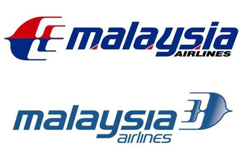 The old (above) and new logo of Malaysia Airlines