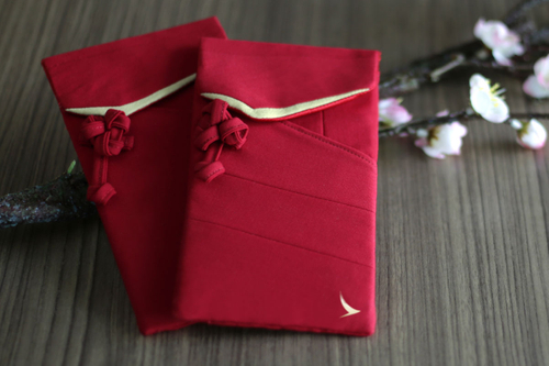 Cathay Pacific sells lai see envelopes made from recycled uniforms