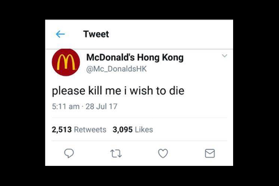 McSuicide? Twitter hoax affects McDonald's Hong Kong
