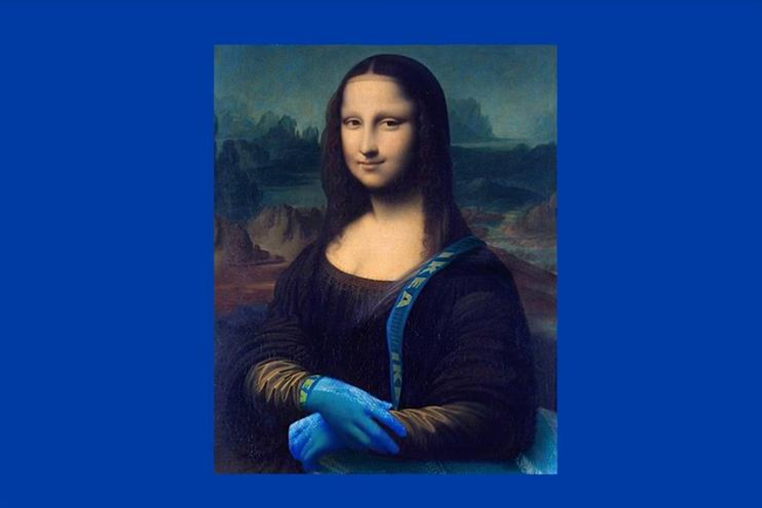 Acne portrayed the Mona Lisa holding an Ikea bag in 2017's 'Ikea's response to Da Vinci'