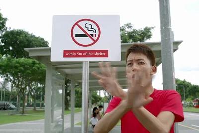 Singapore NEA uses a 'bro' to promote smoking ban extension