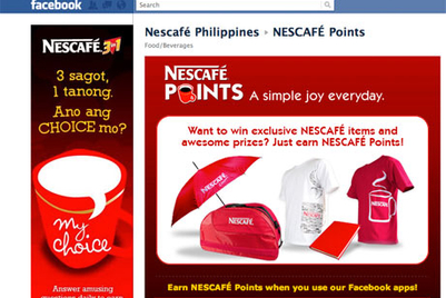 Nescafé Philippines engages consumers with Facebook rewards system