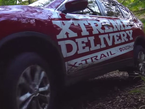 High-octane pizza delivery showcases toughness for Nissan X-Trail