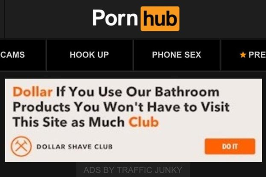 Dollar Shave Club: ads suggested using its products could reduce need for porn
