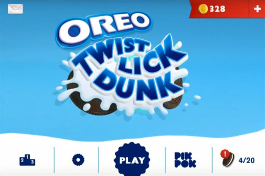 Mondelez wants to create more brand-centric games, such as Oreo Twist Lick Dunk