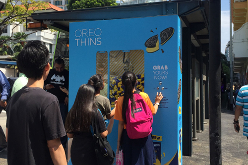 Clawing for attention: Sampling machines tempt Singaporeans