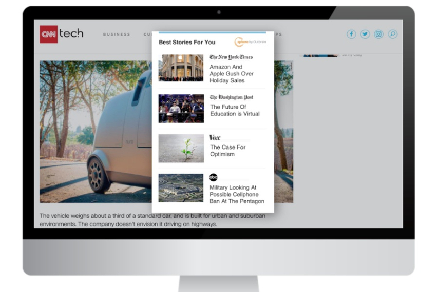 Sphere lets publishers hand-select the peers whose content will appear on their sites.