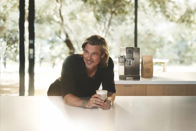 Coffee hunk wars: Pitt takes on Clooney with role in De'Longhi campaign