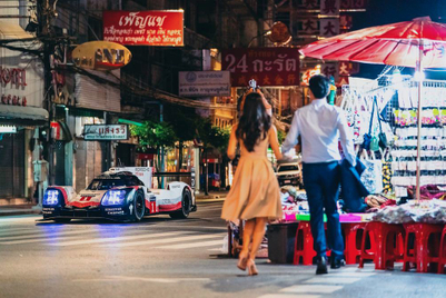 A retiree tours the streets of Bangkok