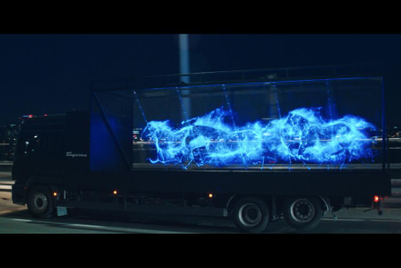 Holographic horses gallop through Seoul for Porsche