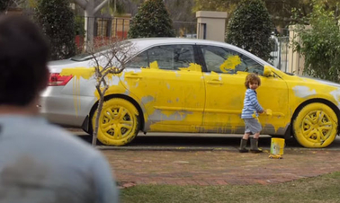 RAC Insurance Australia can help with 4-year-old boys with paintbrushes
