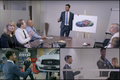 Infiniti puts F1 driver Daniel Ricciardo into a different kind of competition