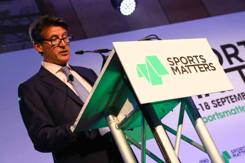 Lord Sebastian Coe takes the stage at Sports Matters 2014