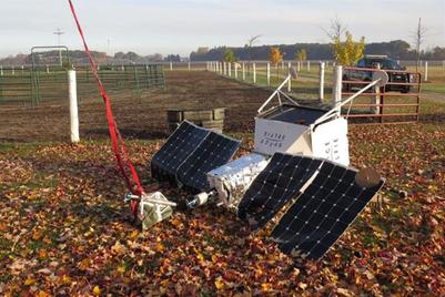 Samsung's 'space selfie' satellite lands in someone's garden in Michigan