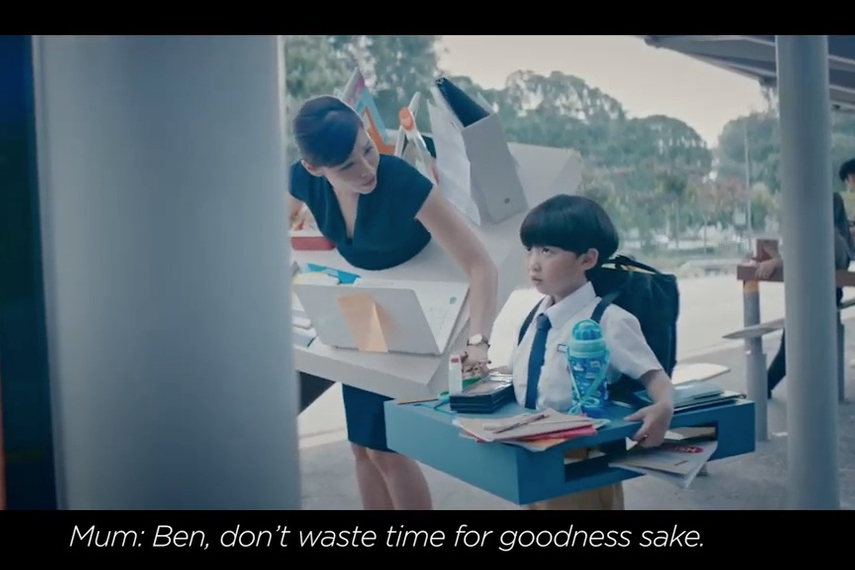 'Make time' campaign, via BBH Singapore, includes TV, OOH and research showing just how reluctant people are to let themselves, and their kids, relax for a while.