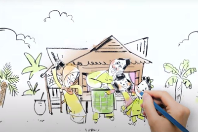 Eid-al-Fitr video blends animation with quarantine-shot video