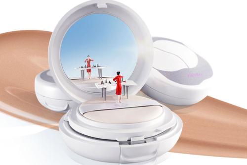 Life on a cushion: Dioramas highlight Shiseido 'sensing' product