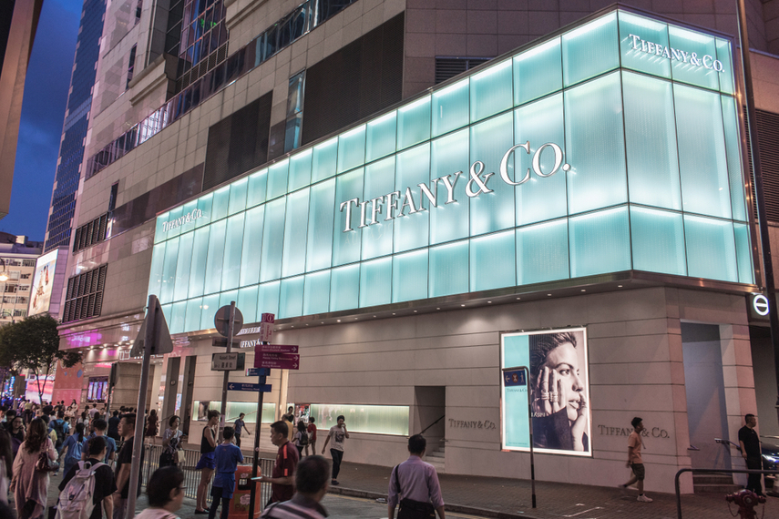 A Tiffany store in Causeway Bay, Hong Kong