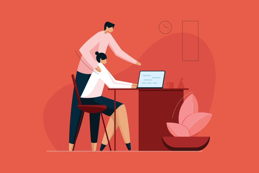 Why does workplace harassment often go unreported?