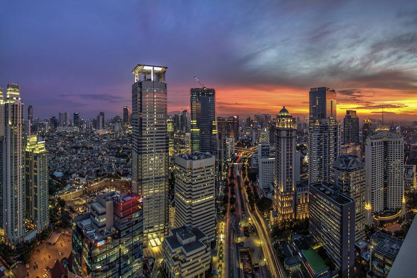 Indonesia's capital, Jakarta, where Dentsu Indonesia is headquartered.
