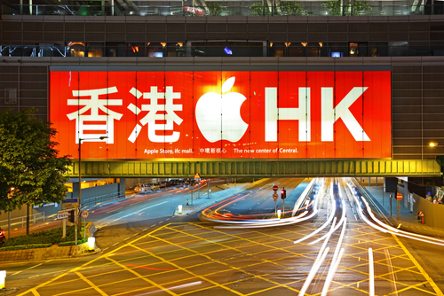 Apple in eye of China-Hong Kong storm