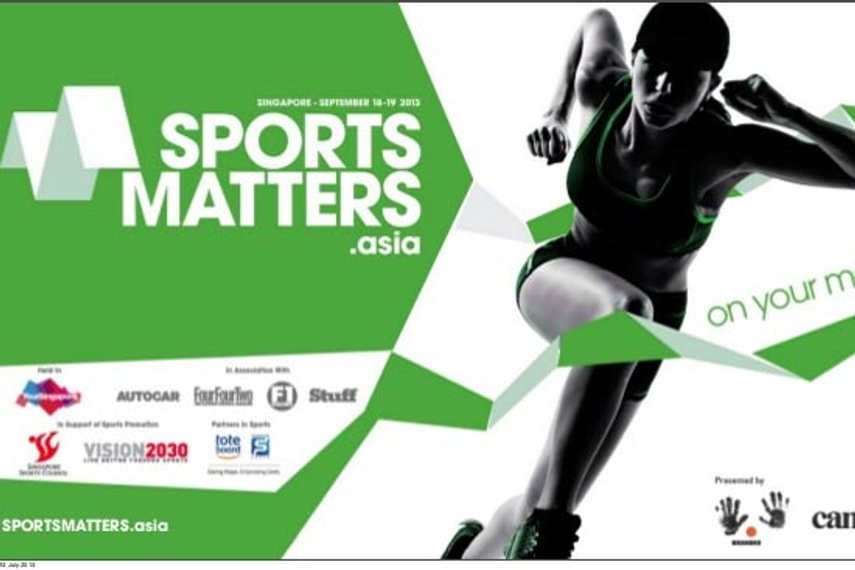 The inaugural Sports Matters is taking place yesterday and today in Singapore
