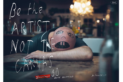Binge drinkers become works of art in Steinlager campaign