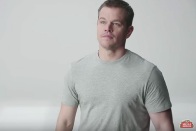 Matt Damon and a tower of chalices deliver clean-water message