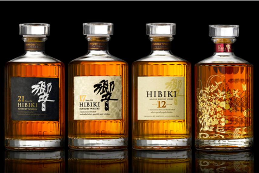 The Suntory Hibiki range