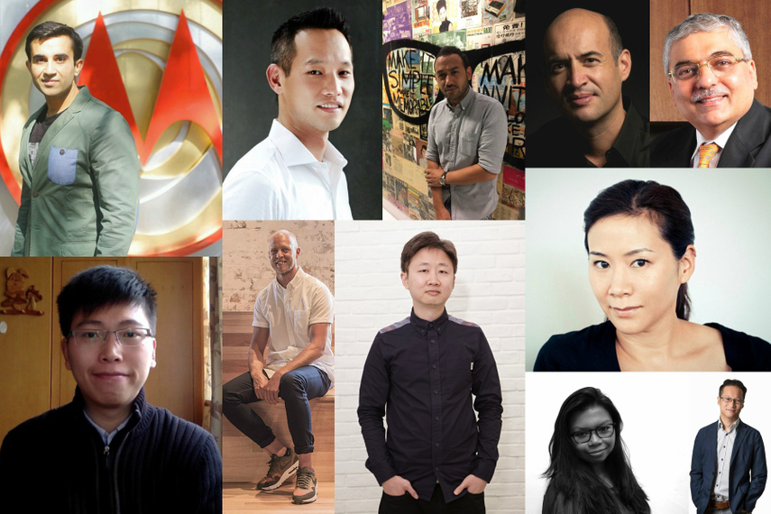 (Clockwise from top left): Simran Dhindsa; James Yi; Sharim Gubbels; Jean-Paul Burge; Ashish Bhasin; Kara Yang; Mun Yin Liu; Remona Duquesne; Jonathan Lim; Wesley Hawes; Peter Ding