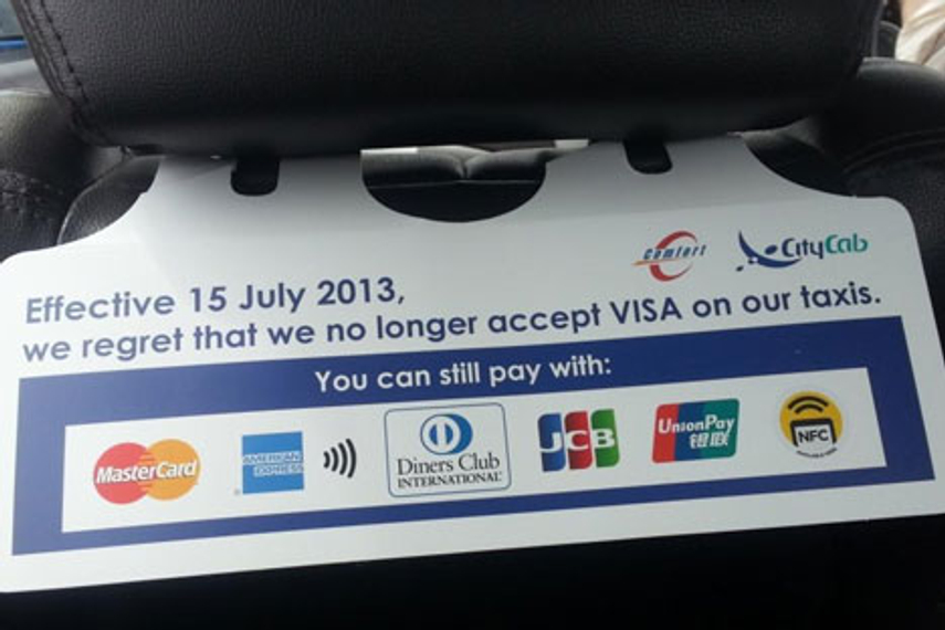 Is Visa's Singapore taxi ban just a PR stunt?