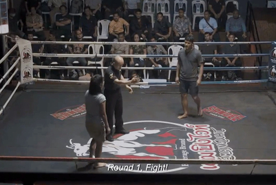 Thai boxing fans shocked by a husband-wife bout