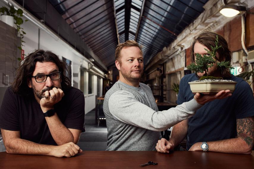 L-R: Adam Ferrier, Jim Ingram, Ben Couzens