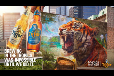 Tiger Beer snarls at adversity in new campaign