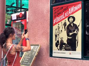 Propaganda-style posters make bold points about Vietnamese women