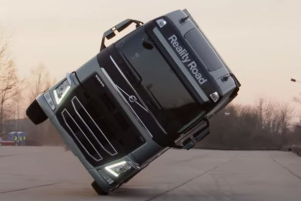 Volvo: Who needs Van Damme when the truck can do this?