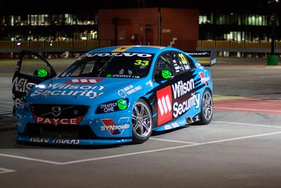 Volvo burns rubber in honour of new racing sponsor