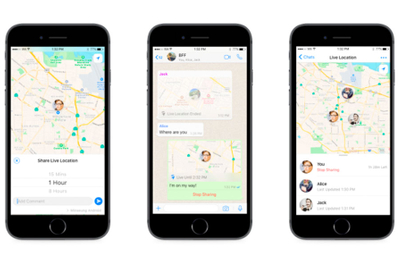 Facebook introduces location sharing in WhatsApp