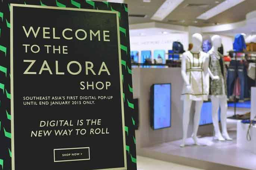Zalora opens Southeast Asia's first digital pop-up store in Singapore.