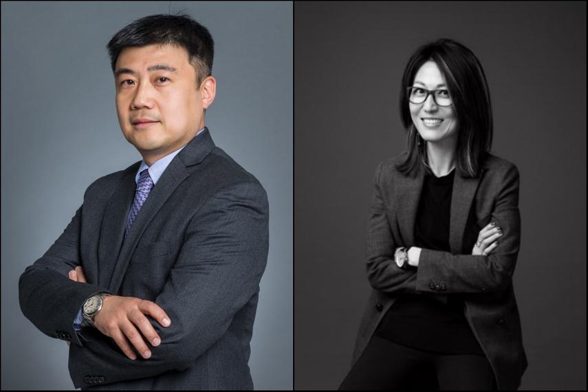 左:王东(Mark Wang),右:薄荣蓉(Melinda Po)