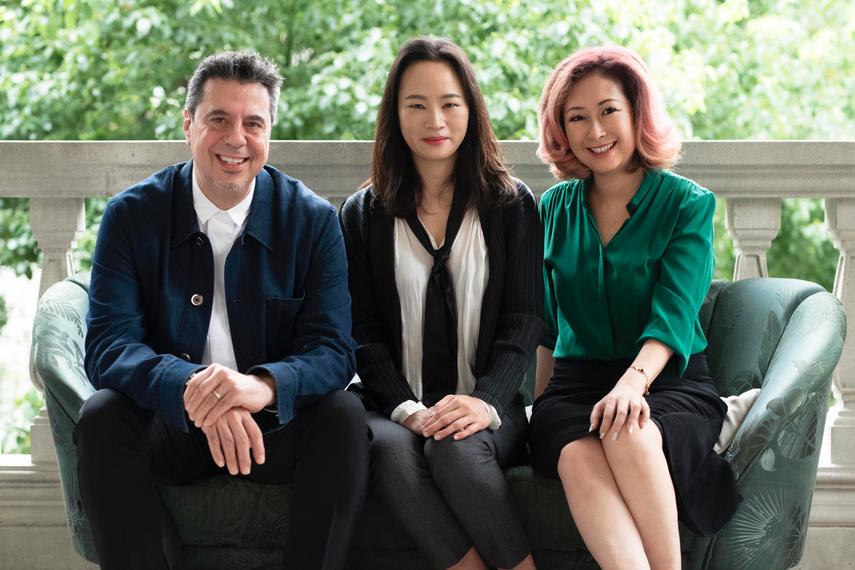 从左至右:Arto Hampartsoumian,林真,吴淑芳