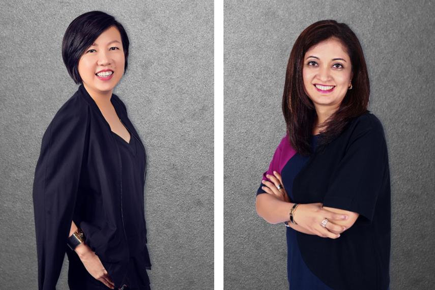 左:黄卿燕(Wee Ching Ian),右:彭曼妮(Sapna Nemani)