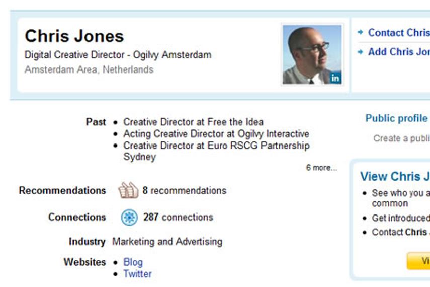奥美阿姆斯特丹前互动创意总监Chris Jones加盟Tribal DDB