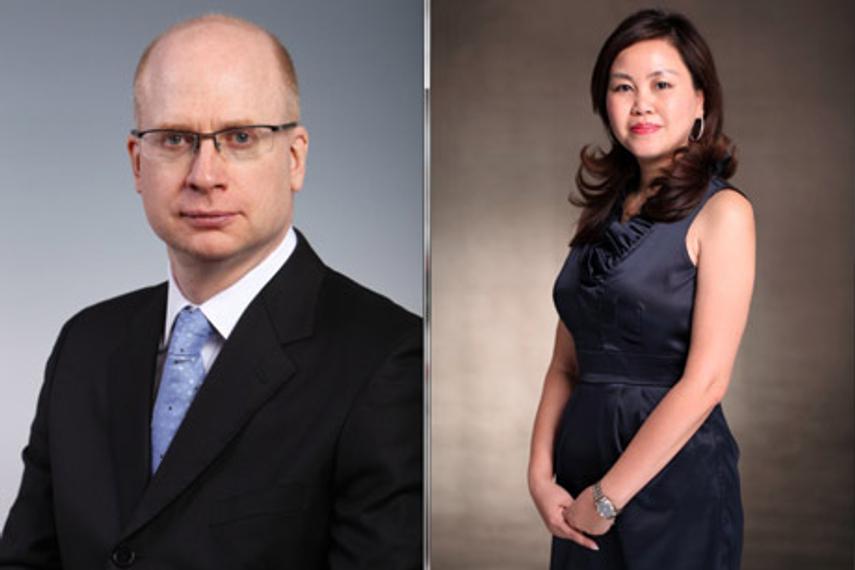 伟达公关亚洲区总裁兼首席执行官莫冠臻(左)和中国区联席总裁周建平
